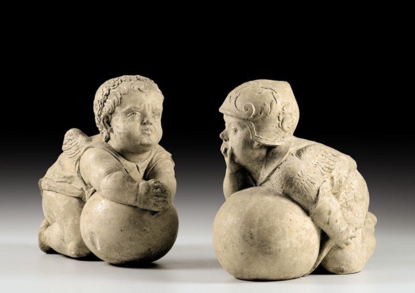 Hans Daucher, zwei Putten, Kalkstein, Höhe circa 30 cm, Foto: Sotheby's