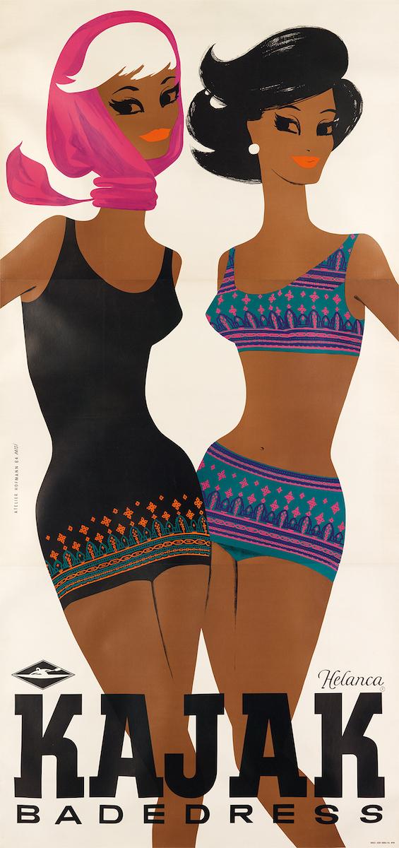 "Atelier Hofmann, ""Kajak"", 1964, Taxe 600, Foto: Swann Auction Galleries, New York"