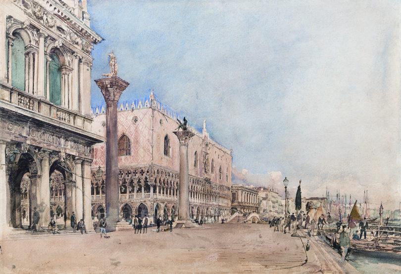 Rudolf von Alt, Venedigansicht, Foto: Kunsthandel Giese und Schweiger, Wien