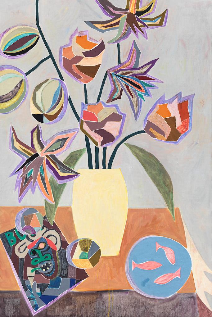 "Armin Boehm, ""Vip"", 180 x 120 cm, Öl, Papier auf Textil auf Leinwand, 2015-2016, Courtesy of Armin Boehm, Foto: Galerie Francesca Minini, Mailand"