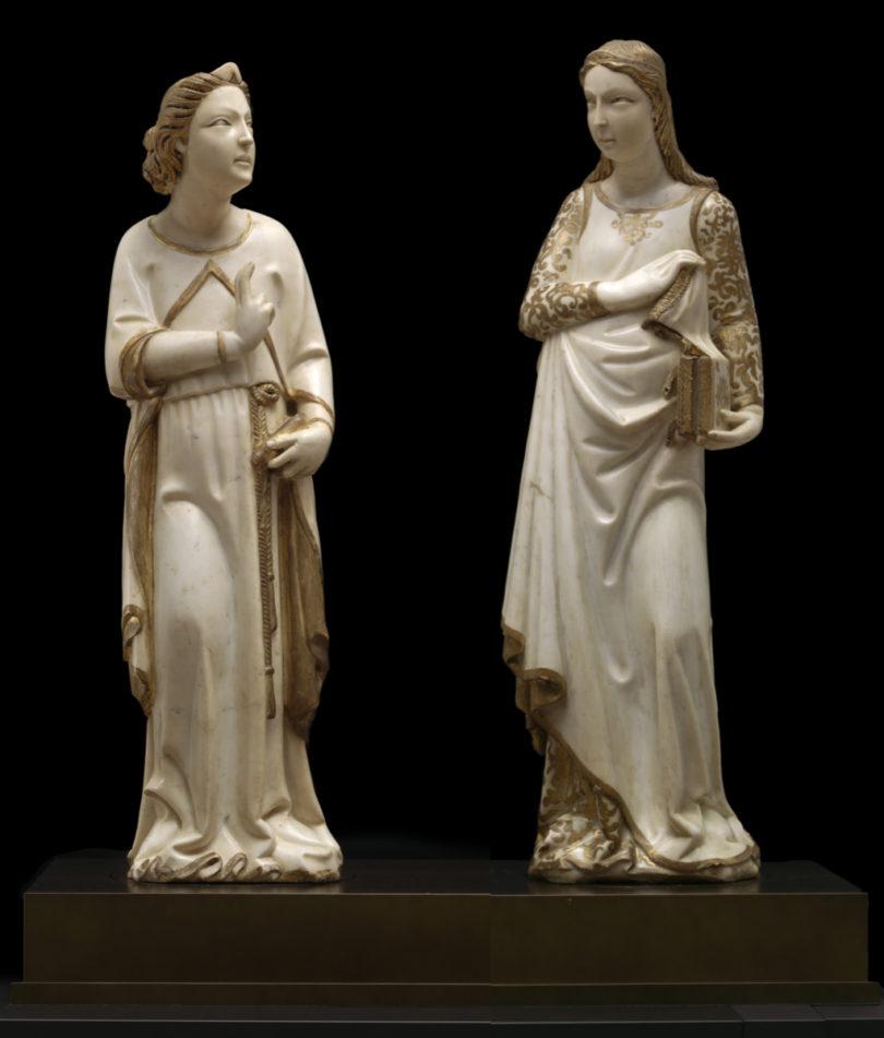 Giovanni di Balduccio, Erzengel Gabriel und Maria Verkündigung, 1333-1334, Carrara Marmor, Alana Collection, Newark, DE, United States, Foto: © Allison Chipak