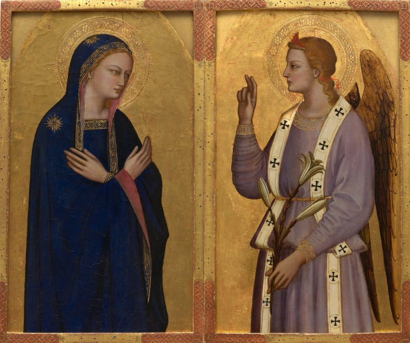 Nardo di Cione, Verkündigung, circa1350-1355, Tempera und Gold auf Holz, Alana Collection, Newark, DE, United States, Foto: © Allison Chipak