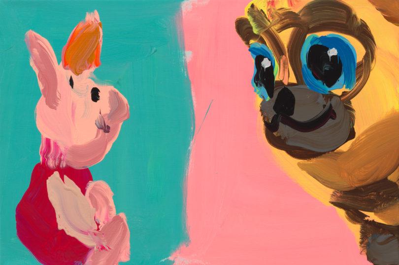 "Jan De Vliegher, ""Plush"", 2019, Acryl auf Leinwand, bei Galerie Thomas Fuchs auf der Positions, Courtesy Galerie Thomas Fuchs, Foto: Dominique Provost"