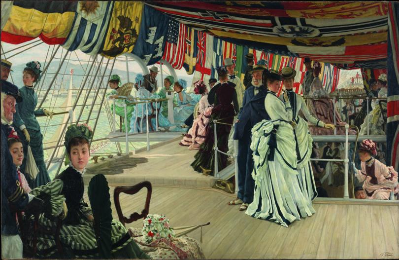 James Tissot, Der Ball an Bord, 1874 (Copyright: Tate London)