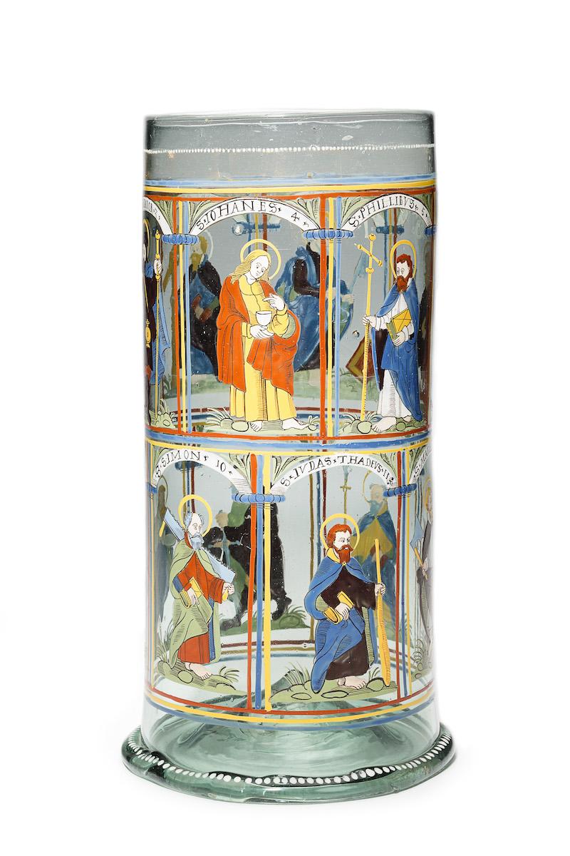 Apostelhumpen, Glas, Emailfarben, Böhmen, datiert 1611, Foto: © Kunstpalast Düsseldorf - Glasmuseum Hentrich/Stefan Arendt