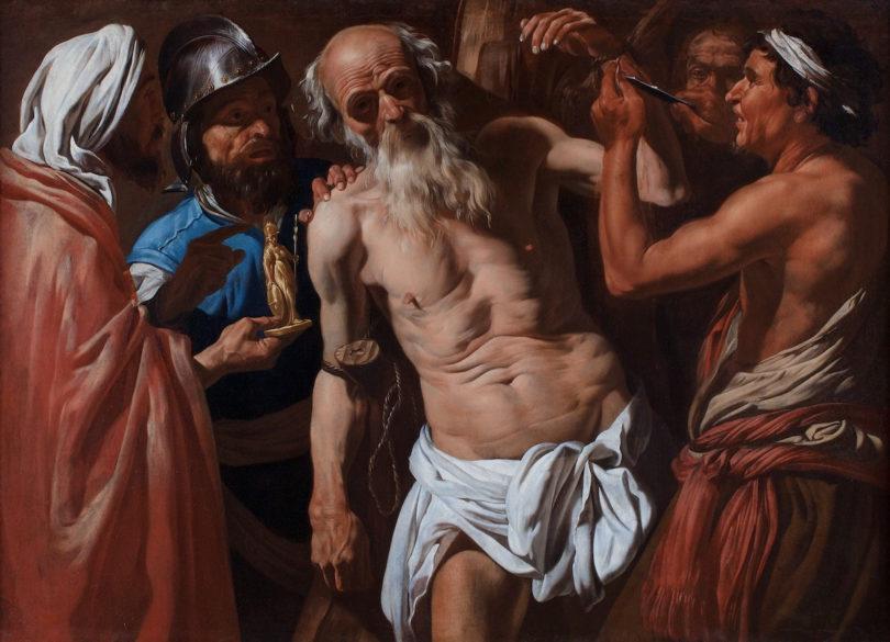 Matthias Stomer, Das Martyrium des Heiligen Bartholomäus, circa 1630-1635, Öl auf Leinwand, 111,8 x 157,5 cm, Foto: Daxer&Marschall, München