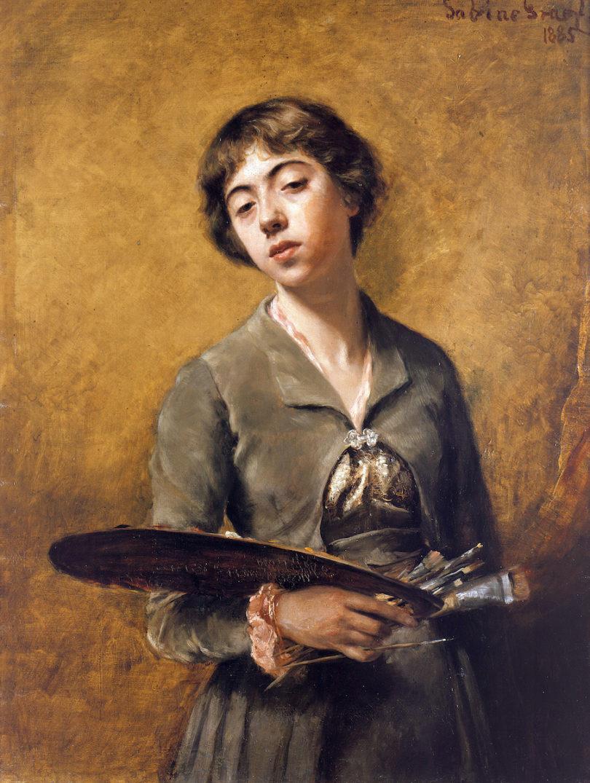 Sabine Lepsius, Selbstbildnis, 1885, Foto: © Staatliche Museen zu Berlin, Nationalgalerie / Jörg P. Anders