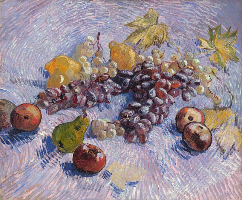 """Vincent van Gogh, """"Trauben, Zitronen, Birnen und Äpfel"""", 1887, Öl auf Leinwand, 46,5 x 55,2 cm, The Art Institute of Chicago, Gift of Kate L. Brewster, Foto: The Art Institute of Chicago"""
