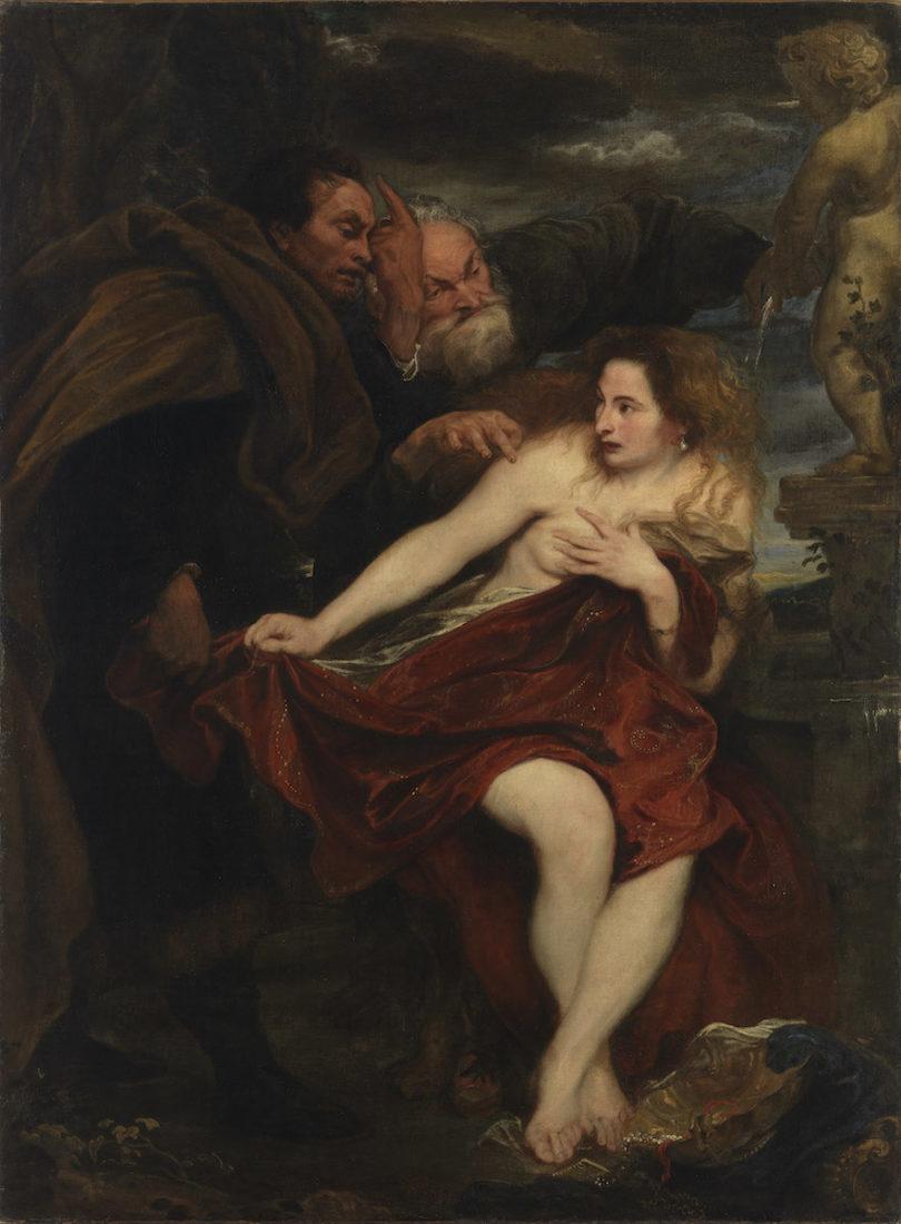 Anthonis van Dyck, Susanna und die beiden Alten, um 1621/22, Öl auf Leinwand, 194 x 144 cm, Foto: © Bayerische Staatsgemäldesammlungen, Alte Pinakothek, München