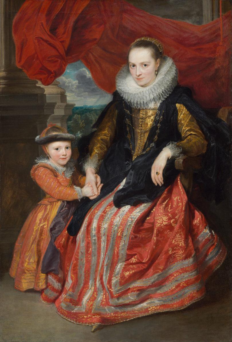 Anthonis van Dyck, Susanna Fourment mit ihrer Tochter Clara del Monte, 1621, Öl auf Leinwand, 172 x 117 cm, Foto: © National Gallery of Art, Andrew W. Mello