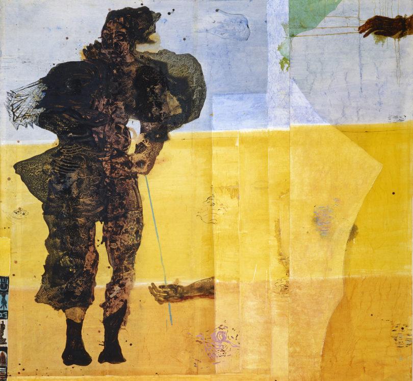 Cornelia Schleime, o.T., 1986, Tusche auf Japanpapier, kaschiert auf Vlies, 247 x 248 cm, Privatleihgabe, courtesy Cornelia Schleime, Foto: Eric Tschernow