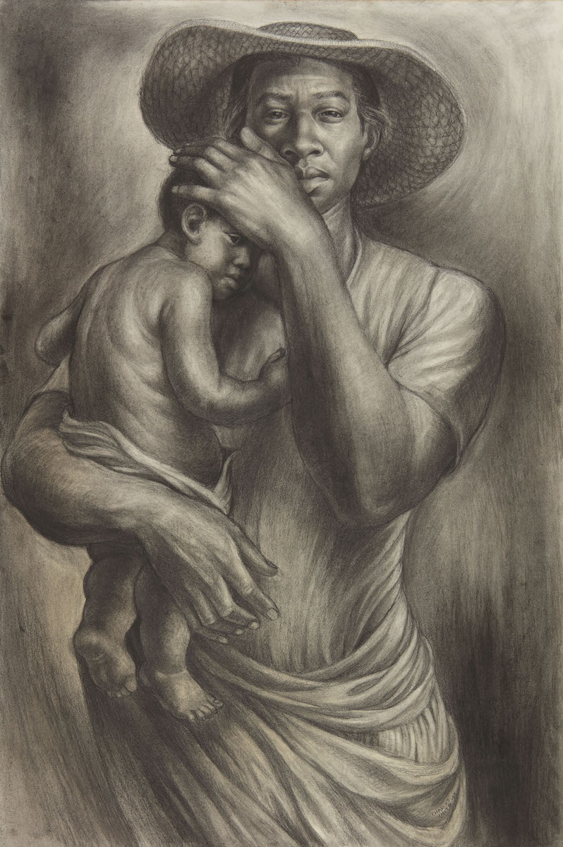 "Charles White, ""Ye Shall Inherit the Earth"", 1953, Zeichnung, soll bei Sotheby's 500 000 Dollar einspielen, Foto: Courtesy Sotheby's"