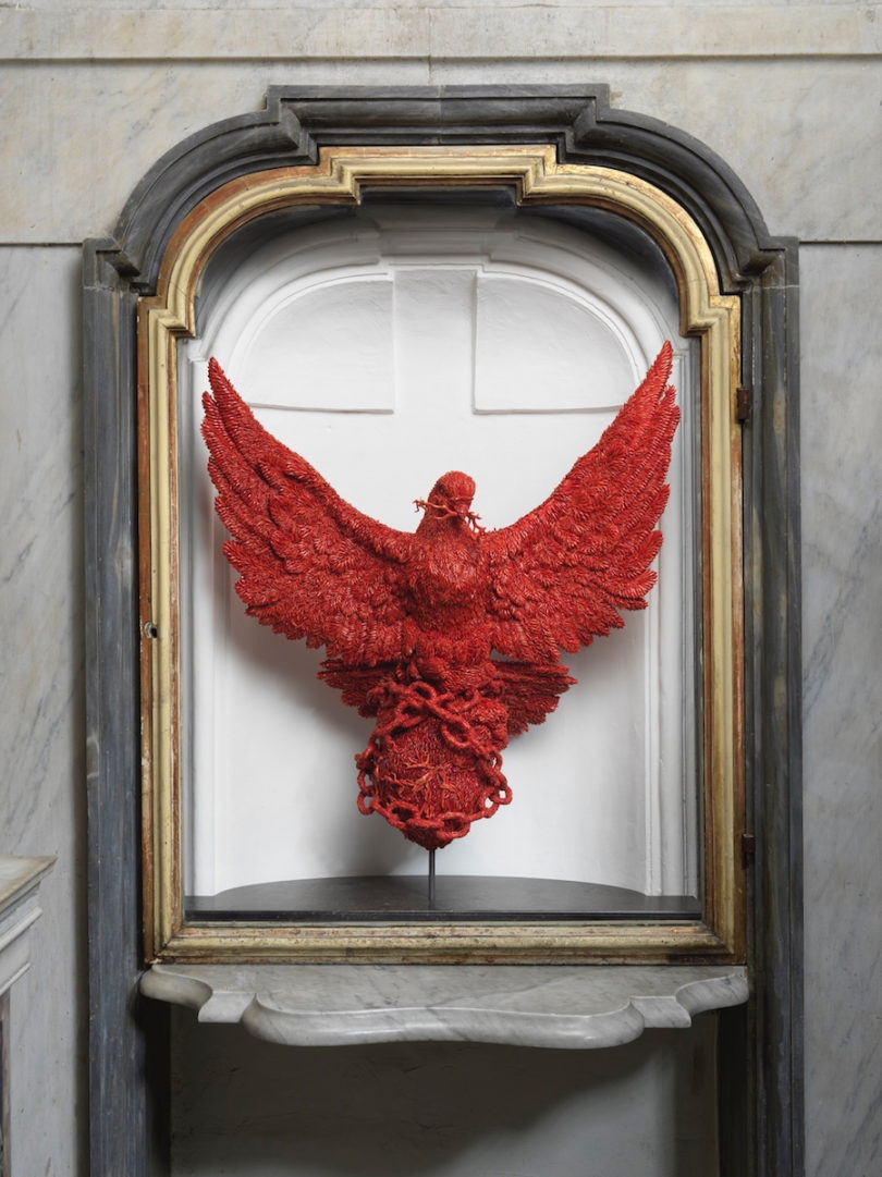 "Jan Fabre, ""The Liberty of Compassion"", 2019, Cappella del Pio Monte della Misericordia, Neapel, Foto: Grafiluce / L. Romano"