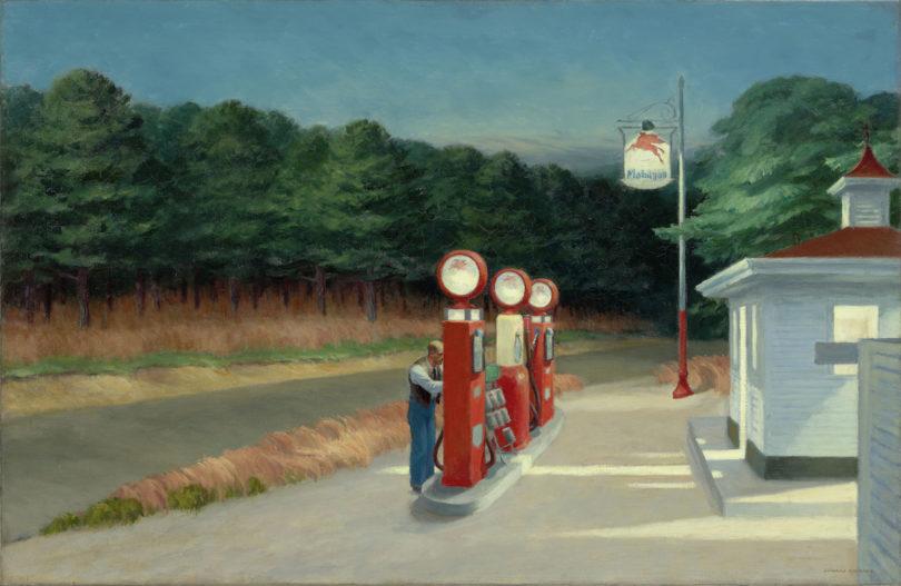"Edward Hopper, ""Gas"", 1940, Abbildung: 2019 Digital image, The Museum of Modern Art, New York/Scala, Florence/VG Bild-Kunst, Bonn 2020"
