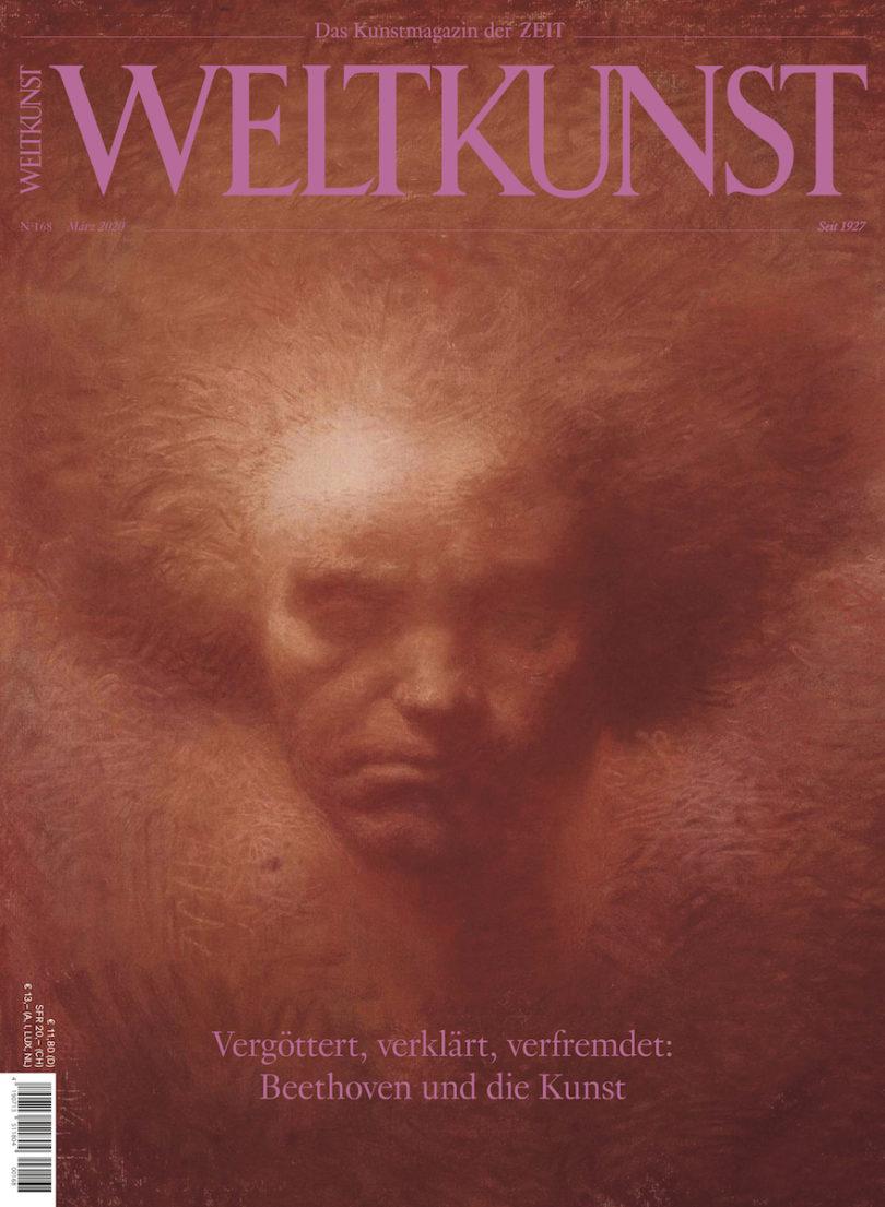 Die Märzausgabe der WELTKUNST mit einem Porträt Beethoven in Pastell von Lucien Lévy-Dhurmer (Bullys/RMN - Grand Palais/bpk)