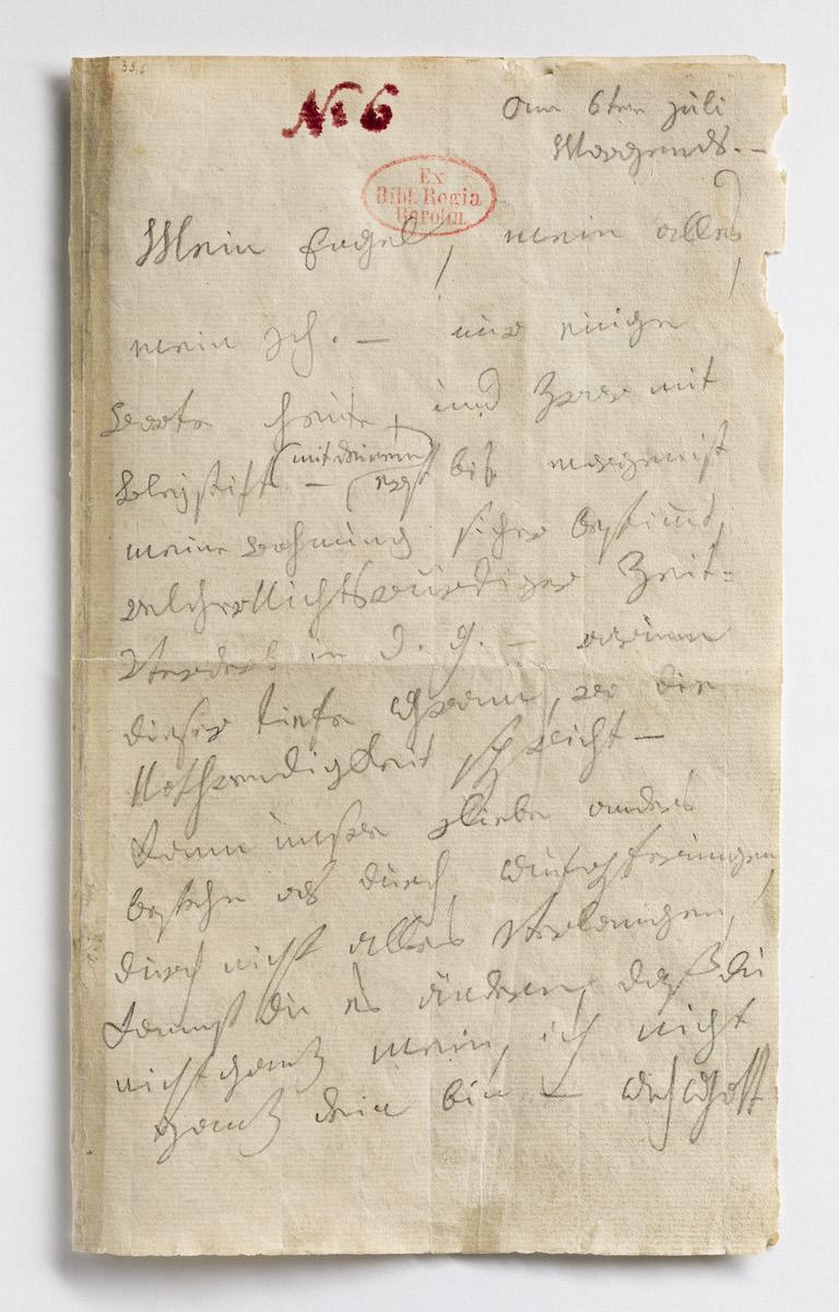 Unter den 380 Briefen, die in der Beethoven-Sammlung der Staatsbibliothek zu Berlin überliefert sind, befindet sich auch der Brief an