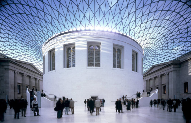 Blick in den großen Innenhof des British Museum, Foto: © Trustees of the British Museum