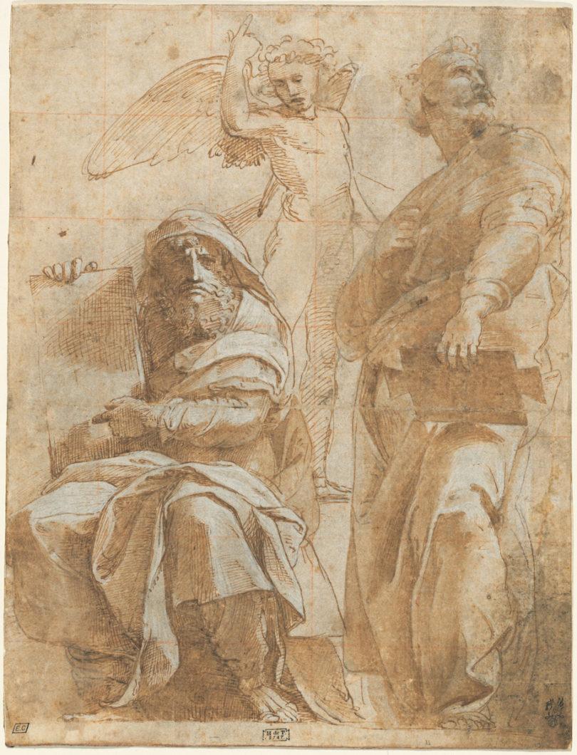 Raffael, Die Propheten Hosea and Jona, ca. 1510, The Armand Hammer Collection, Abbildung: National Gallery of Art, Washington