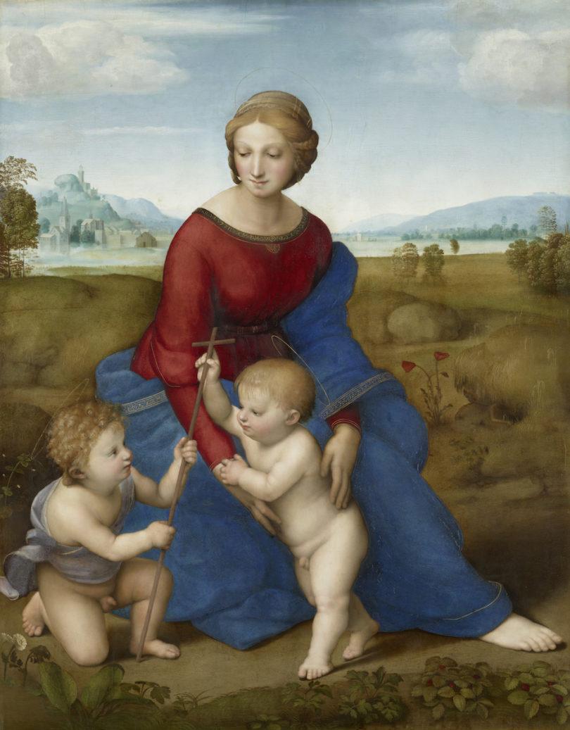 Raffael, Madonna im Grünen, 1505 0der 1506, Kunsthistorisches Museums Wien, Abbildung: KHM-Museumsverband