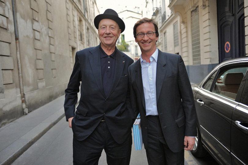 """Thaddaeus Ropac (rechts) mit """"seinem"""" Künstler Georg Baselitz, Abbildung: Thaddaeus Ropac"""