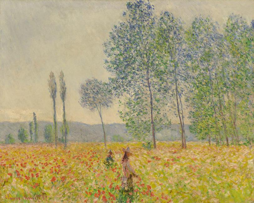 Claude Monet, Unter den Pappeln, 1887, Öl auf Leinwand, 73 x 92 cm, Abbildung: Privatsammlung