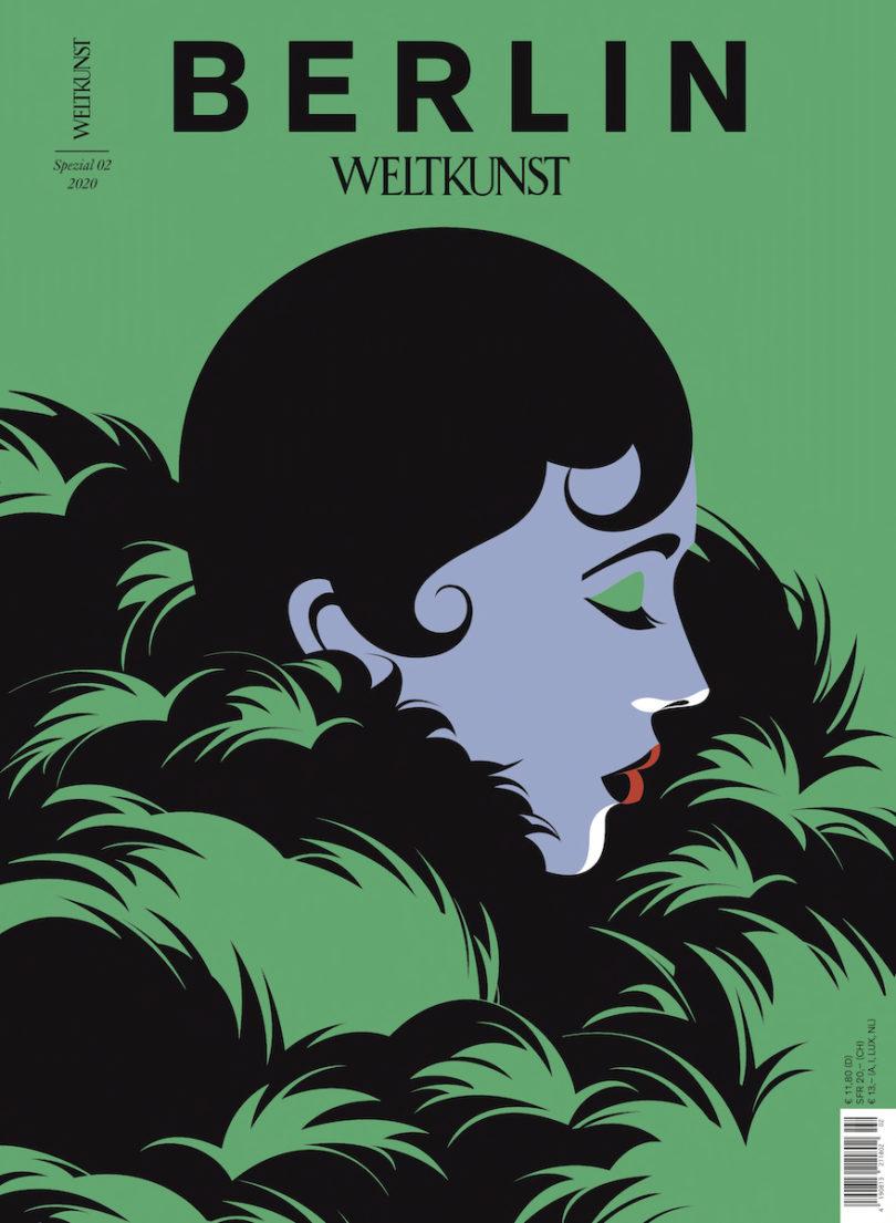 Das Cover der WELTKUNST Berlin Spezial von Illustratorin Malika Favre