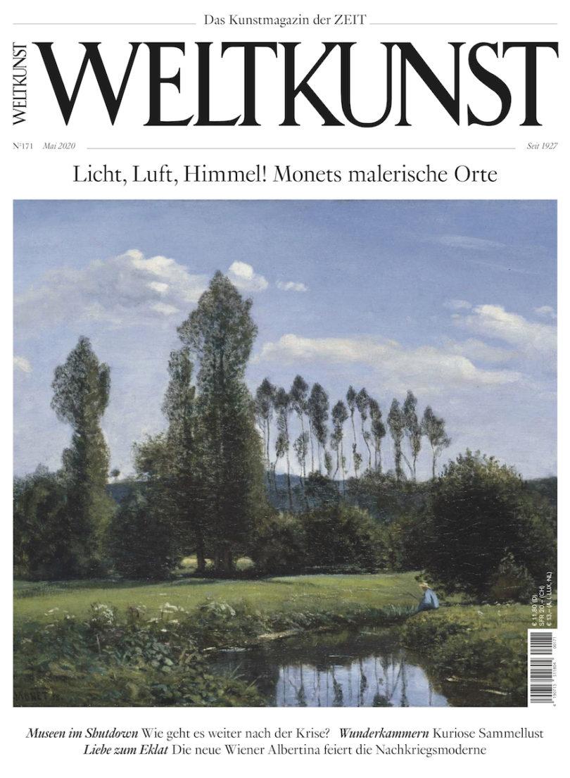 """Das Cover der der neuen WELTKUNST mit Claude Monets """"Blick von Rouelles aus"""