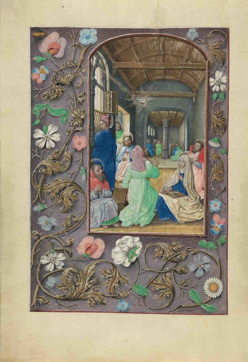 Pfingstwunder im Stundenbuch der Isabella von Kastilien, Gent oder Brügge, um 1500, Cleveland Museum of Art, aus der Faksimile-Edition des Faksimile Verlags (Foto: Faksimile Verlag)