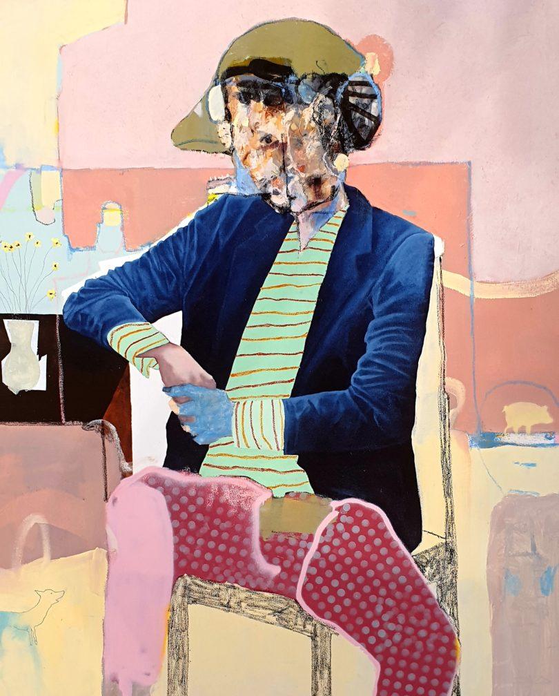 Die Galerie RK Contemporary aus Südafrika zeigt auf der Positions das Bild »Jacket Catcher«, 2019, von Bastiaan van Stenis (© Courtesy of RK Contemporary & the artist)