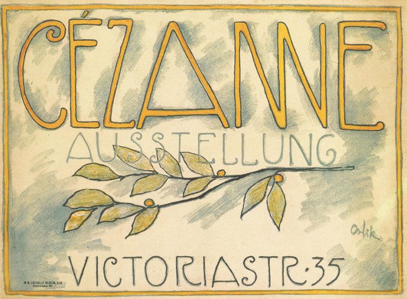 Kunstsalon Paul Cassirer Cézanne Emil Orlik