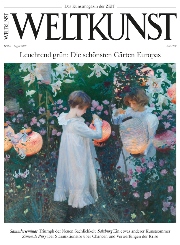 Leuchtend grün: Die neue Weltkunst Nr. 174 ist da! Cover: John Singer Sargent,