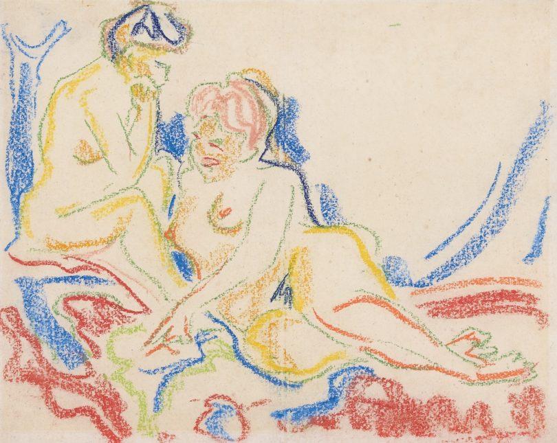 Kirchner Zwei weibliche Akte Sammlung Olbricht