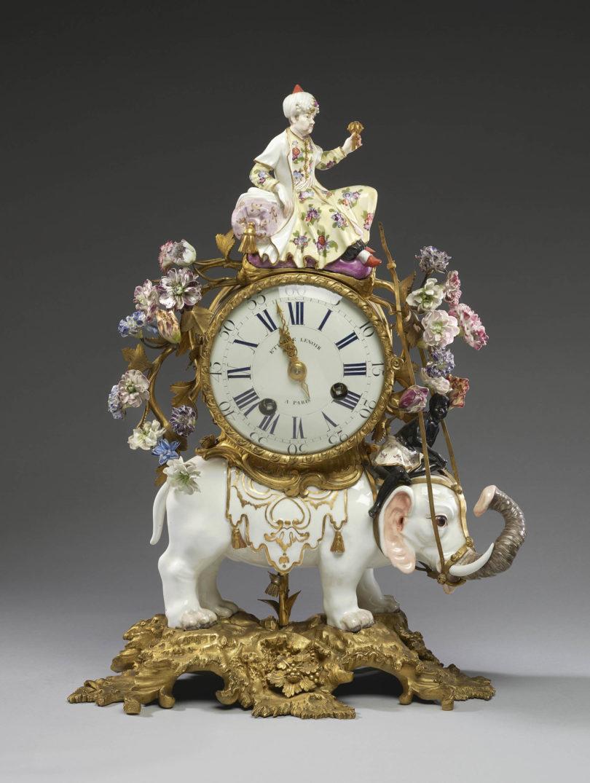 Meissen Porzellan Uhr Chantilly