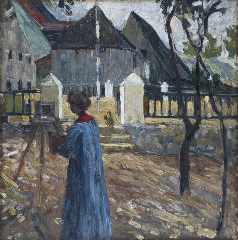 Wassily Kandinskys, Kallmünz – Gabriele Münter beim Malen II, 1903