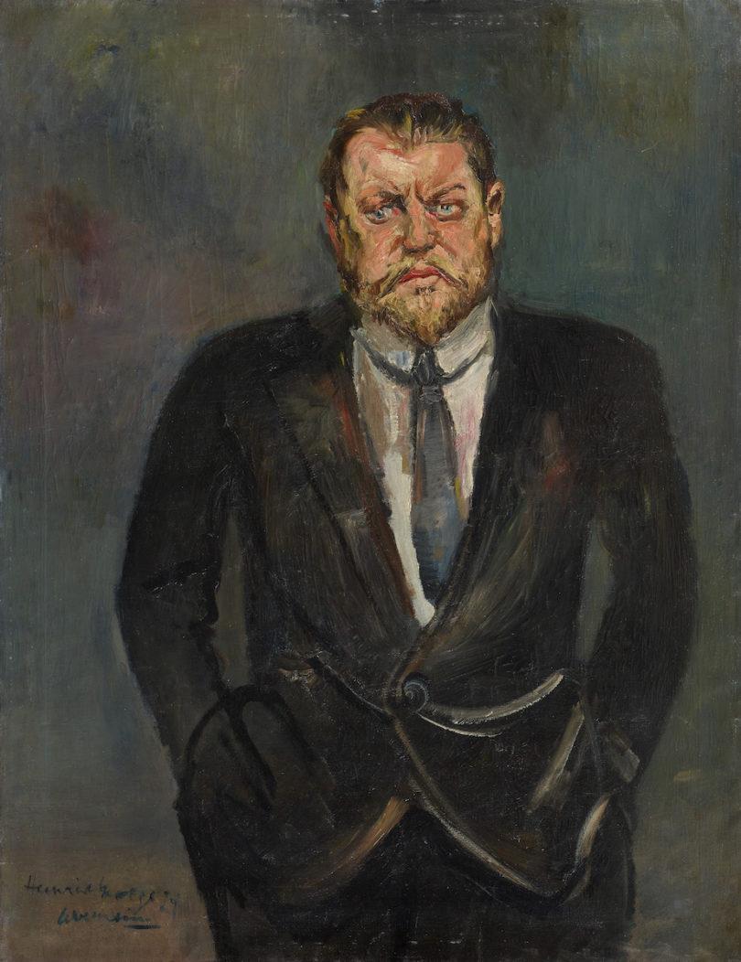 Gert Heinrich Wollheim Porträt des Schauspielers Heinrich George Lempertz Auktion