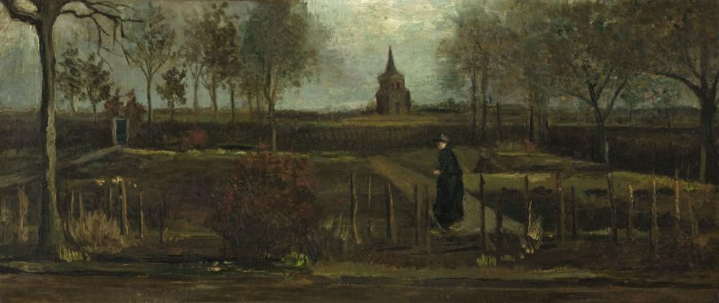 """Vincent van Goghs """"Frühlingsgarten. Der Pfarrgarten von Nuenen"""" Groninger Museum Kunstdiebstahl"""