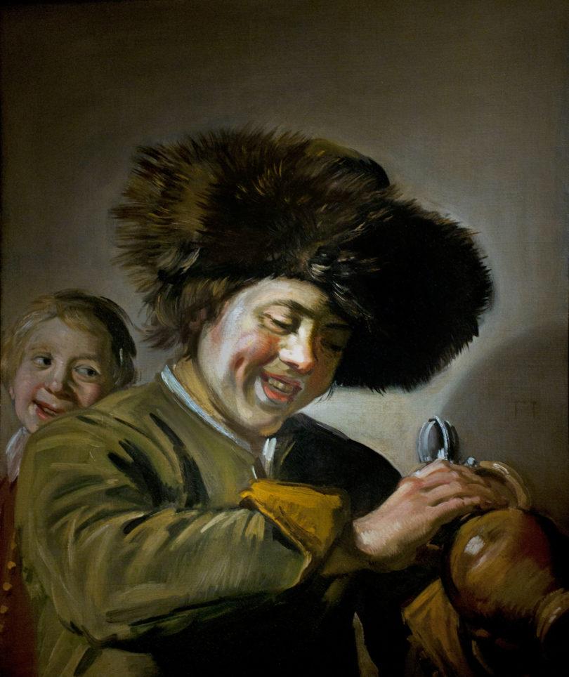 """Frans Hals' """"Zwei lachende Jungen mit Bierkrug"""" aus dem Jahr 1626 Kunstdiebstahl"""