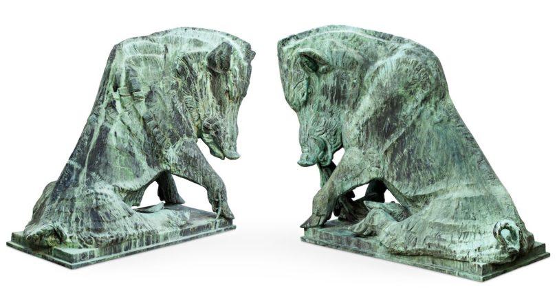 Auktionen der Woche, Bukowskis, Carl Milles, Zwei Wildeber, 1929