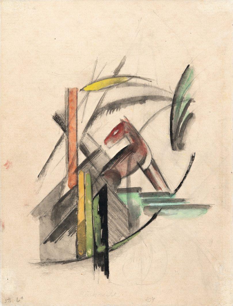 """Auktionen der Woche, Karl & Faber, Franz Marc, """"Das Rötliche Tier"""", 1913"""