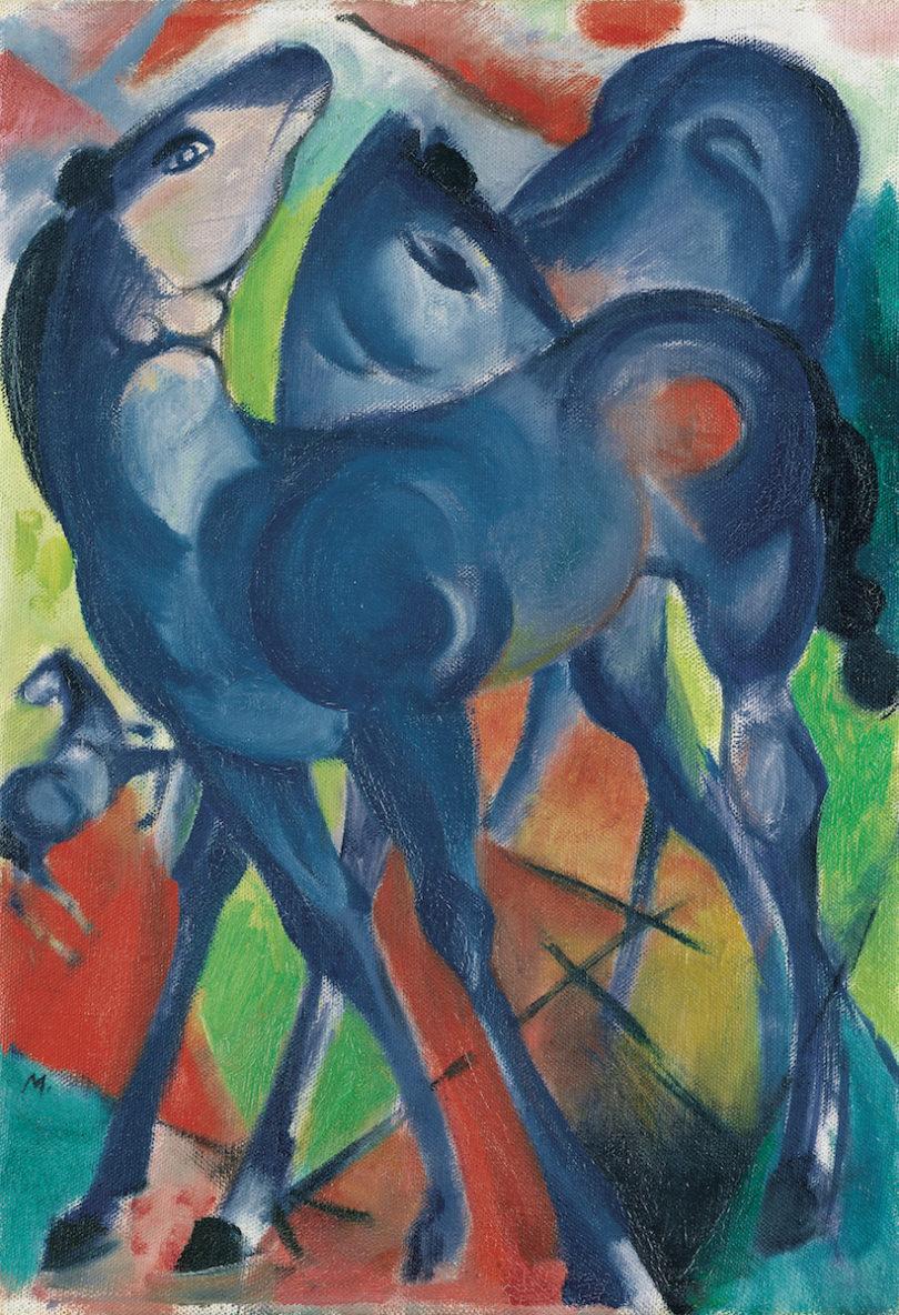 Franz Marc Gemälde Die blauen Fohlen Kunsthalle Emden Ausstellung