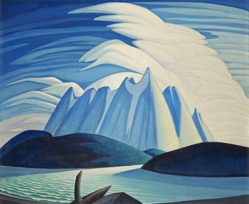 Lawren S. Harris' Gemälde Lake and Mountains von 1928 Austellung Schirn