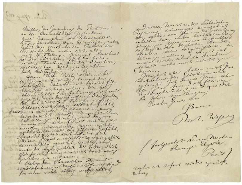 Antiquariatsmesse Stuttgart 2021 Brief Richard Wagner