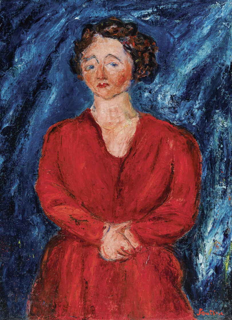 Chaim Soutine Dame in Rot Dorotheum