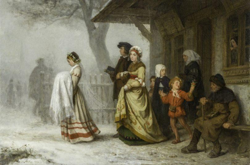 Albert Anker Gemälde die Taufe Auktion