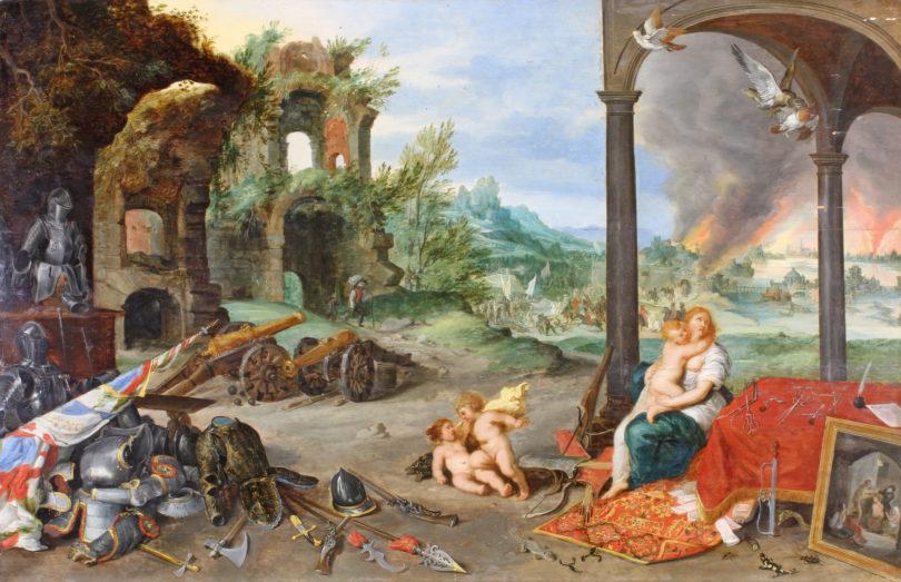 """Brueghel """"Allegorie der Zwietracht"""" Plückbaum Auktion"""