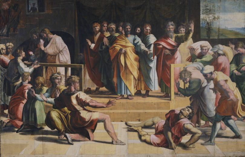 V&A Online Raffael Tod des Ananias