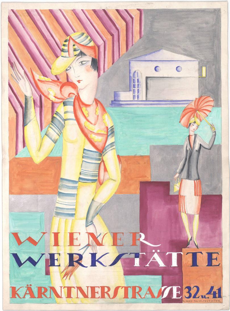Wiener Werkstätte Frauen Vally Wieselthier Modeplakat