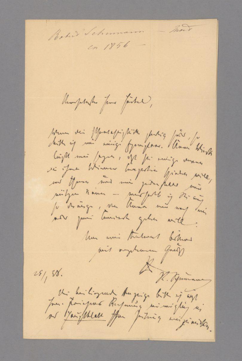 Robert Schumann Autograf Stargardt Auktion
