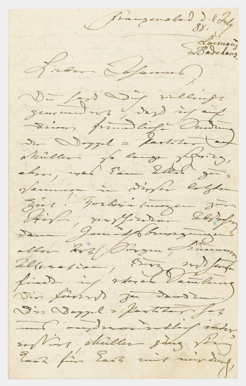 Clara Schumann Autograf Stargardt Auktion