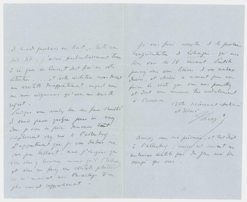 Franz Liszt Autograf Stargardt